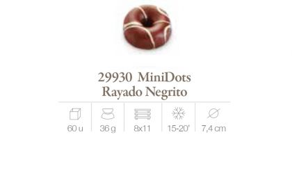 Mini Dots rayado Negrito